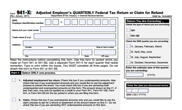 Irs Form 941 Payroll Taxes Errors Late Payroll Taxes