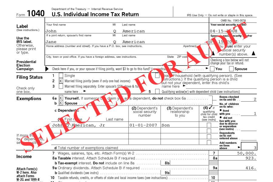 selected for tax audit
