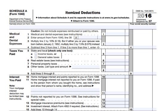 IRS tax preparations
