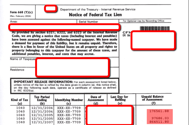 Federal Tax Lien – What to do with an IRS Tax Lien