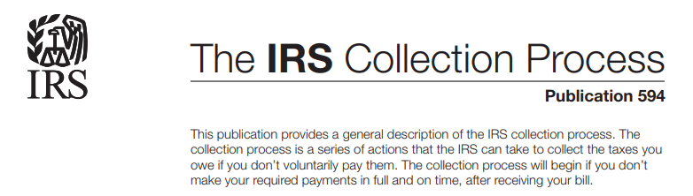 IRS tax lien collection process