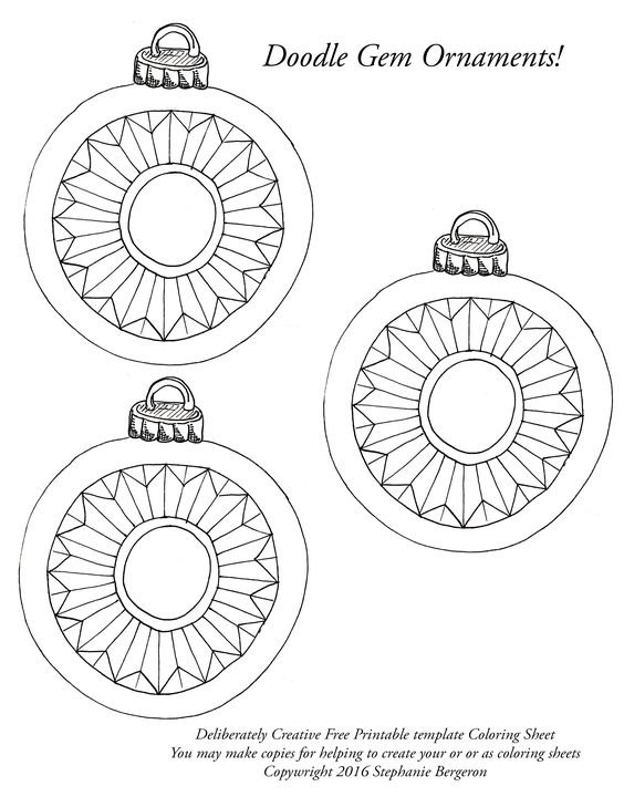 line art Christmas ball ornaments with starburst pattern in the middle