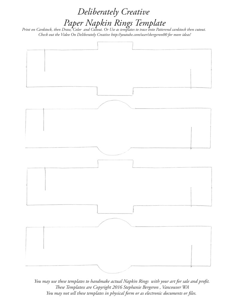 napkin rings template