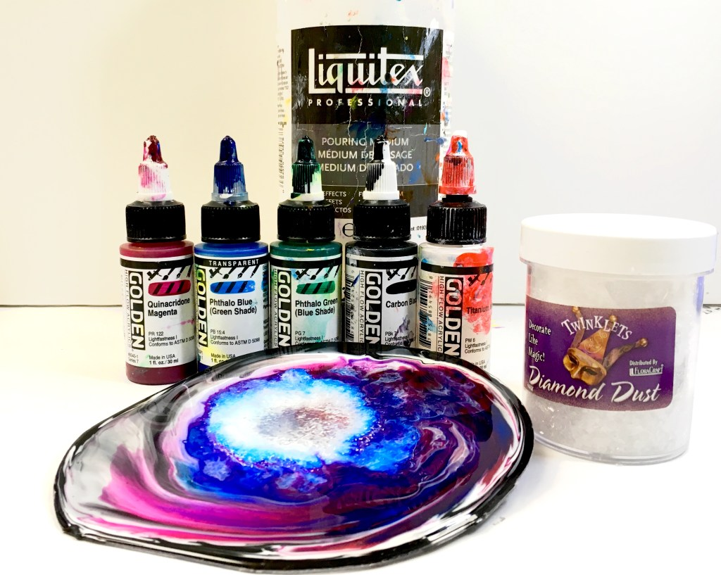 liquitex pouring medium and Golden High Flow Bottles