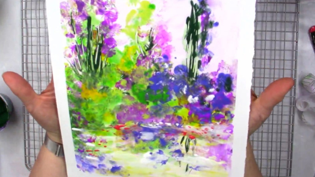 colorful floral abstract painting