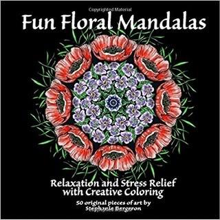 Floral mandala coloring book cover