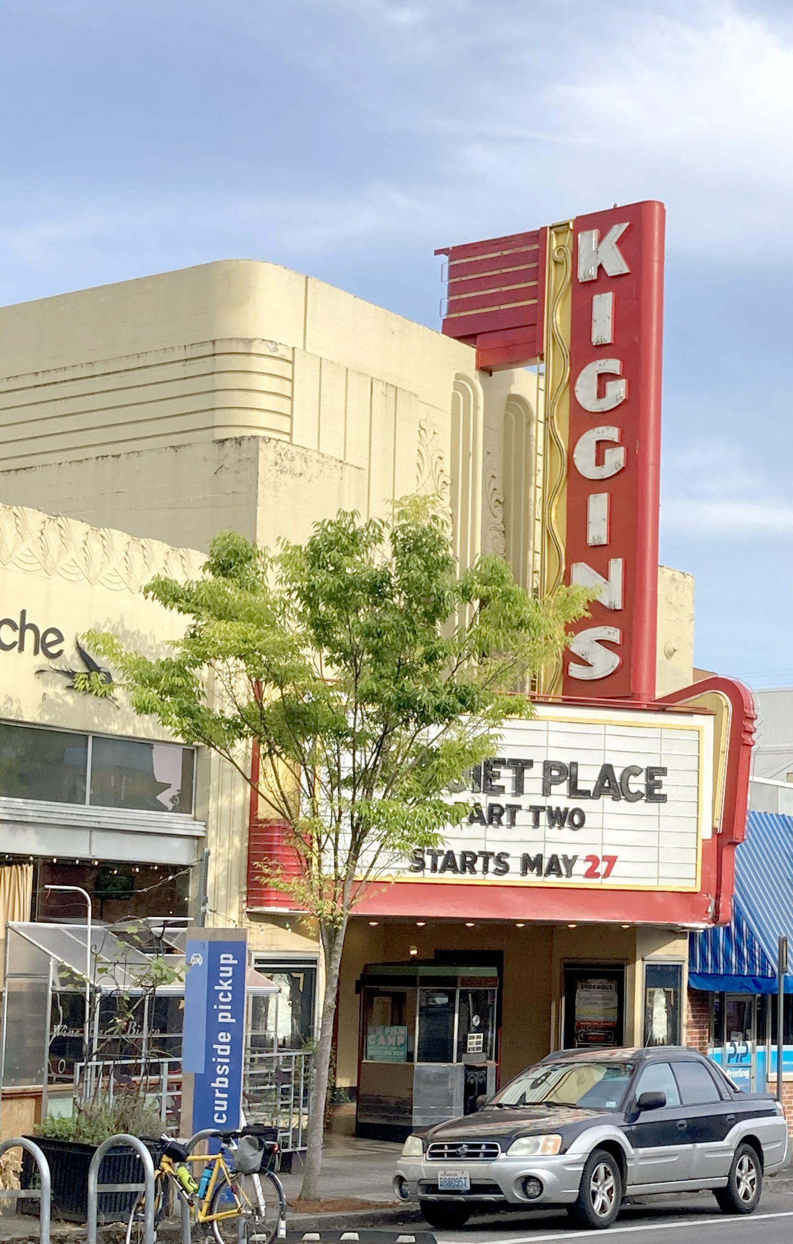 Art Deco Theater front Kiggin's Theater Vancouver WA