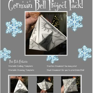 photo cover of project pack with folded bell