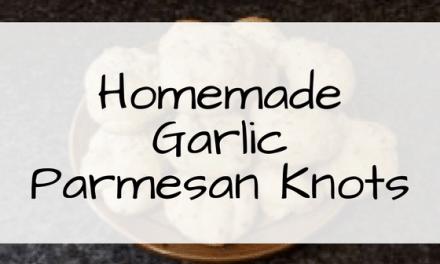 Homemade Garlic Parmesan Knots