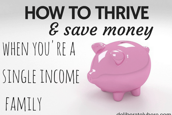 How to Thrive When You're a Single Income Family
