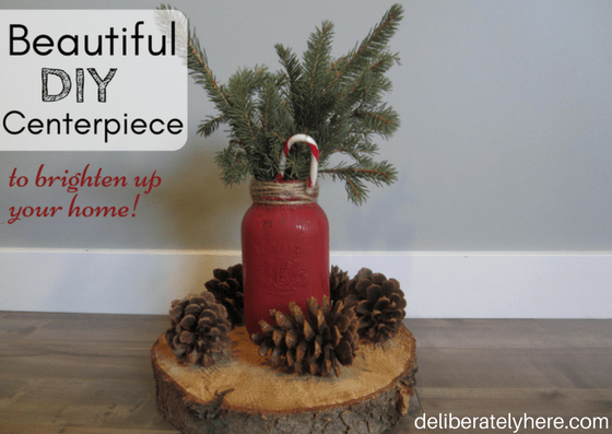 Beautiful DIY Winter Centerpiece to brighten up your home!