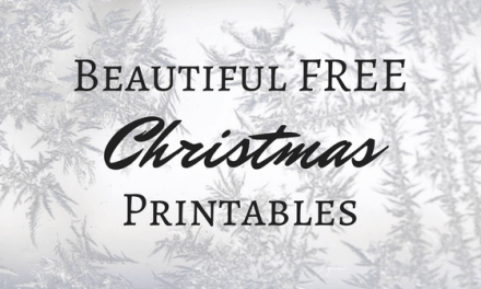 Beautiful Free Christmas Printables (FREEBIE)