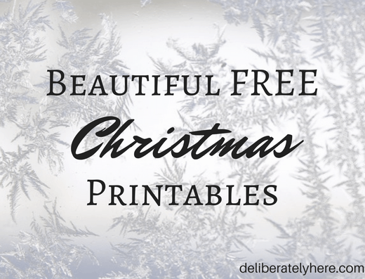 Beautiful Free Christmas Printables