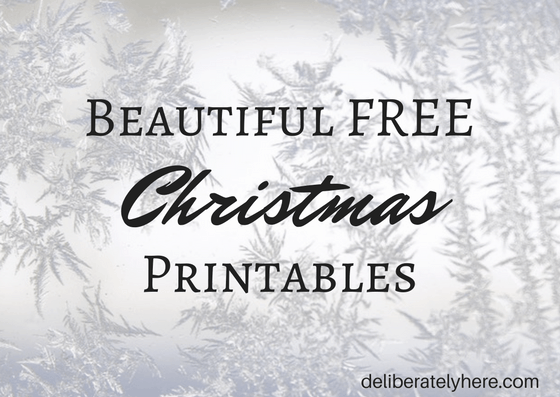 Beautiful Free Christmas Printables