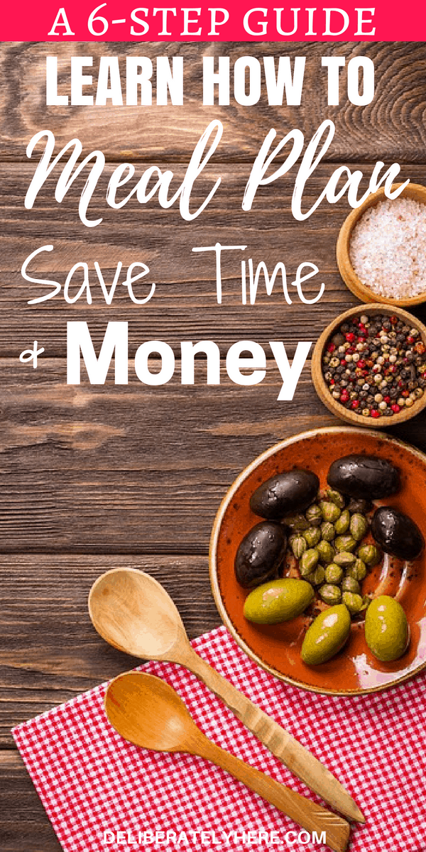 Learn How to Meal Plan, Save Time and Save Money. A Simple 6-Step Guide to Meal Planning