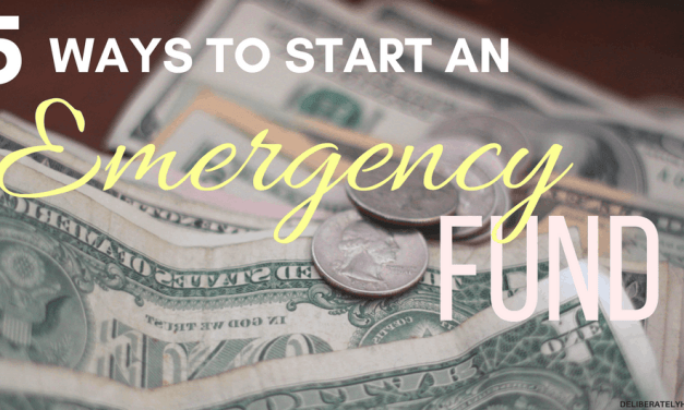 5 Ways to Start an Emergency Fund When Money is Tight