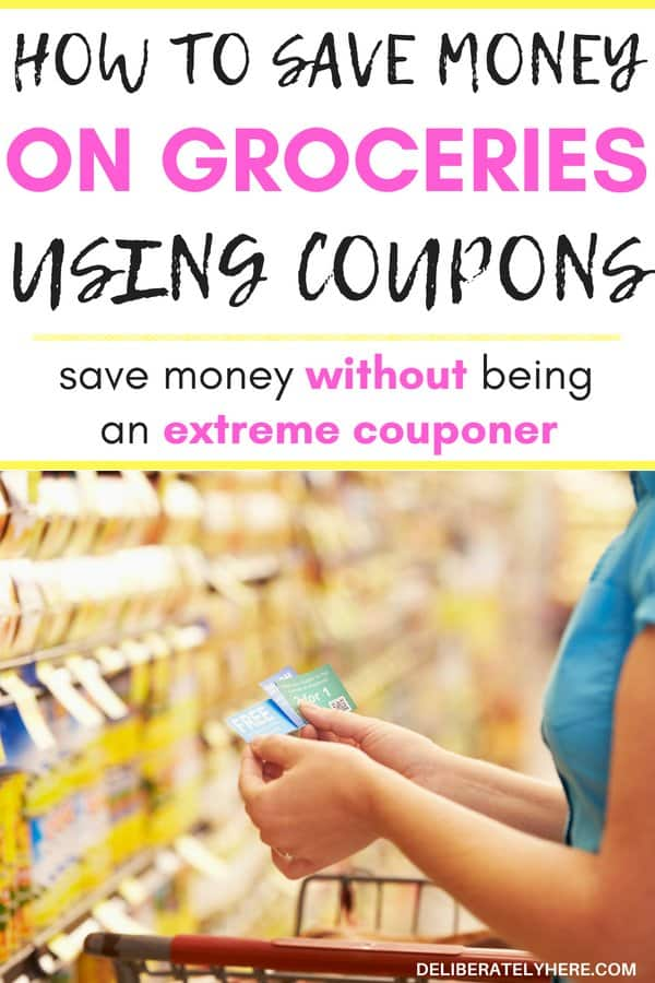 How to save money on groceries using coupons without spending all day clipping coupons. Learn how to save money with coupons. Become a couponer without becoming extreme! Save huge amounts of money on food every month by picking up a couple coupons!
