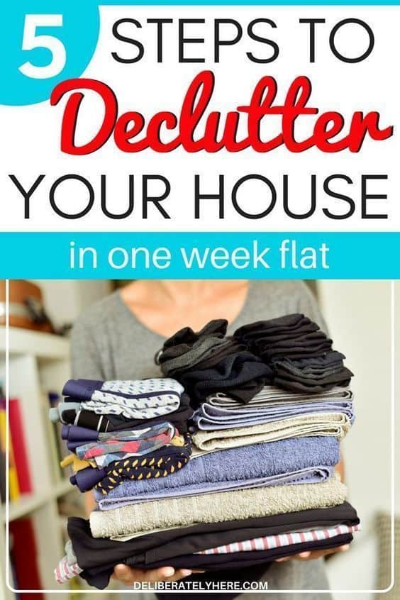 How to declutter your house in one week flat. Kick the clutter and create and organized home today.