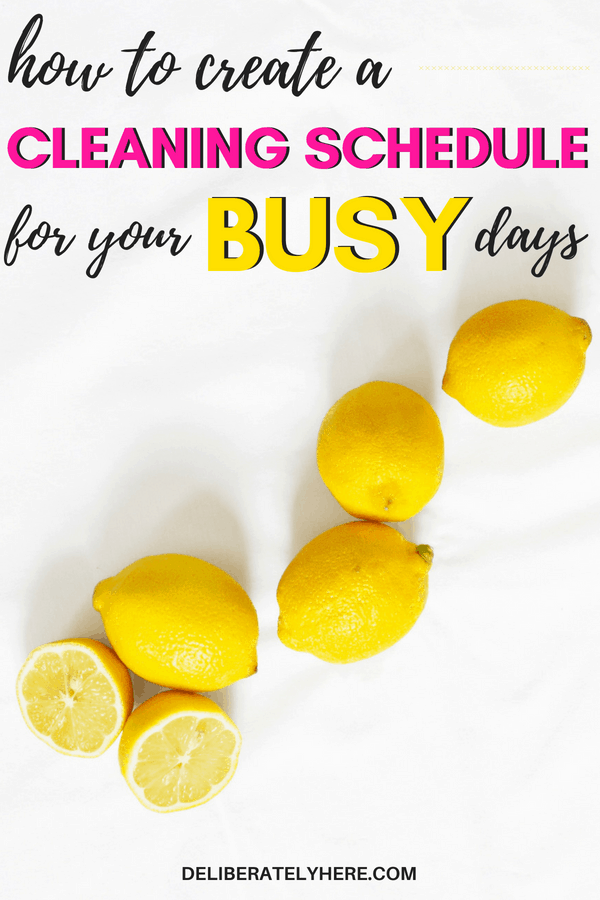 How to create a cleaning routine when you're busy. Create a cleaning schedule that works for you and your busy schedule. Keep your house clean with minimal work every day - daily cleaning tasks. Easily keep your house neat and tidy. The best cleaning tips for busy people.