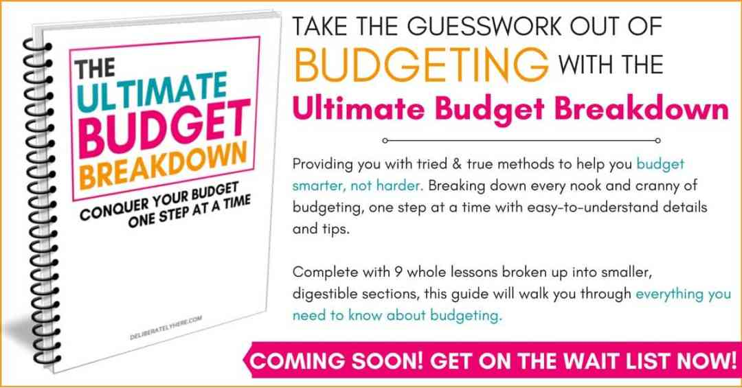 The Ultimate Budget Breakdown - get on the wait list, coming soon.