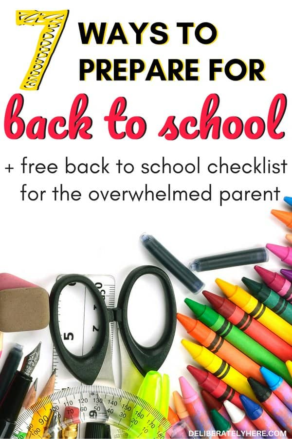 How to prepare for back to school for the overwhelmed parent. How to save money on back to school supplies. Back to school supplies, back to school checklist, back to school organization ideas to help you send your kid to school without stress. Prepare your kid for back to school this year. Free printable back to school checklist to take the stress out of back to school.