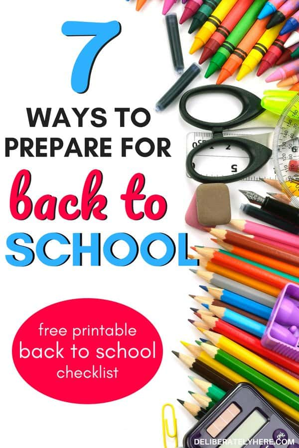How to prepare for back to school. Save money on back to school shopping, back to school supplies, back to school lunches. Create a back to school routine for your child. Organize your schedule with these handy tips to help you prepare for back to school. Plus free printable back to school checklist for the overwhelmed parent. Printable back to school shopping checklist.
