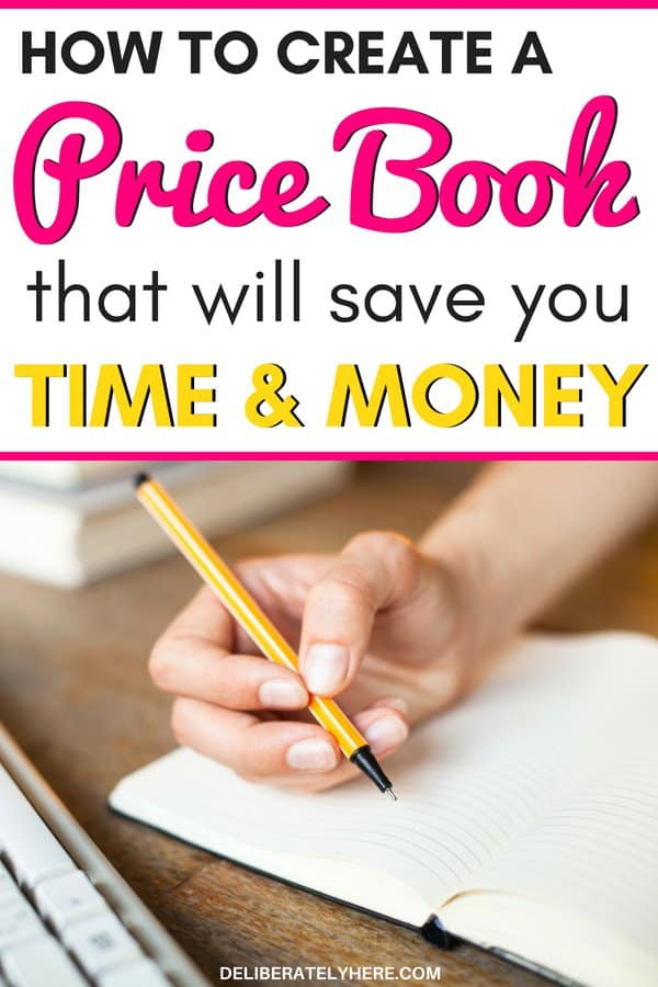 How to create a price book to save money. Create a price book that will save you time and money by recording all the prices in one place so you can ensure you always get the best price available. Save money without coupons! I created my price book without realizing how much money it would end up SAVING me! It has saved money like crazy since day one! I can't believe how easy it is! It is one of the most effective ways to save money I have ever come across! Learn how to start your price book here with these free price book printables included!