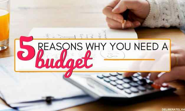 5 Reasons Why You Need a Budget