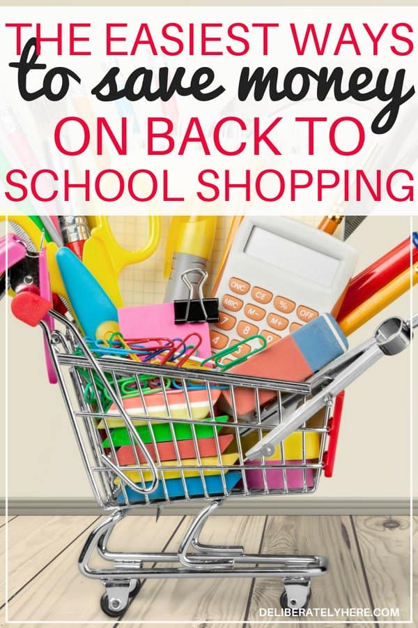 The easiest ways to save money on back to school shopping. Save money on school supplies this back to school season. Shop smart and save money on school supplies this fall with these easy money saving tips.