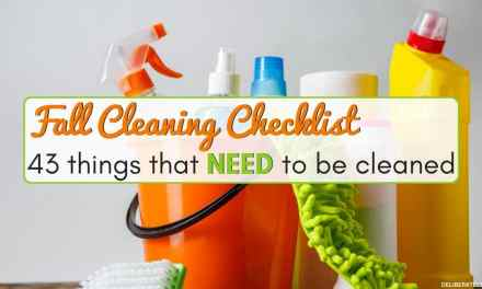 Fall Cleaning Checklist – 43 Things That Should Be Done