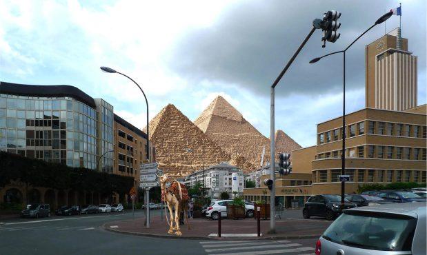 Patrimoine mondial. Sauvegarde des grands sites architecturaux: All Giza Pyramids à Cachan © Philippe Mignon
