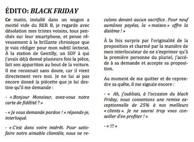 Black Friday © Philippe Mignon