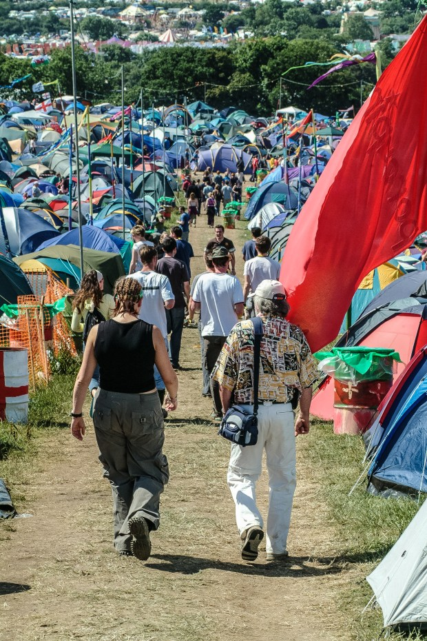 Camping du festival de Glastonbury. Photo: Paul Williams