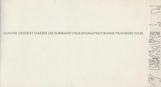 Carte de vœux 1976