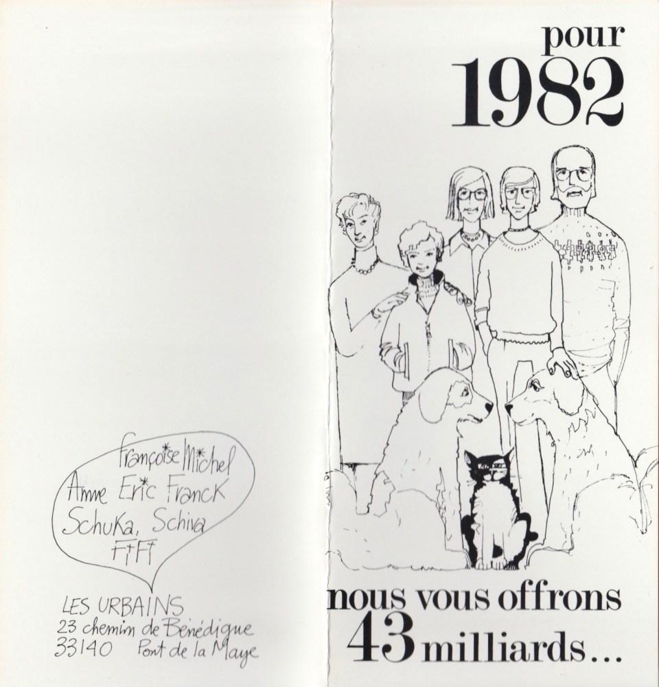 Carte de voeux 1982