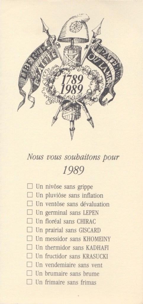 Les vœux des Z´Urbains - 1989 ©Famille Urbain