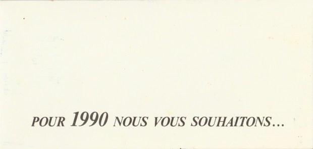 Les vœux des Z´Urbains - 1990 ©Famille Urbain