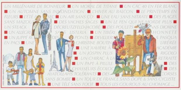 2000 - Les Zurbains vous souhaitent une excellente nouvelle année © Famille urbain