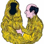 """Affiche de """"Couple"""", une pièce de Gilles Gaston-Dreyfus, au théâtre du Rond-Point, Paris, en février 2016. © Stéphane Trapier"""