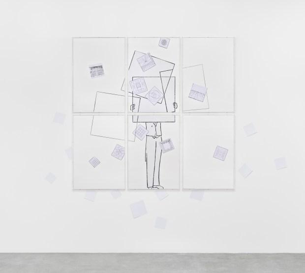 Giulio Paolini, L'arte di non esserci. Courtesy de l'artiste et de Marian Goodman Gallery, New York, Paris, Londres. Photo © Rebecca Fanuele