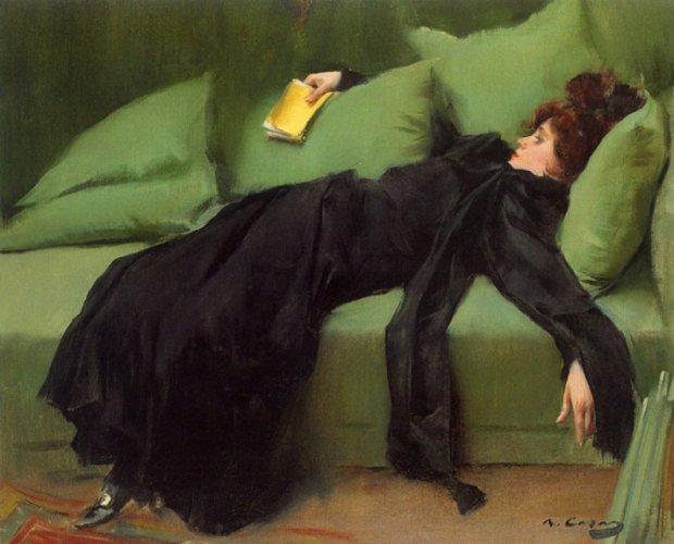 Chroniques scarlattiennes / Ramón Casas, Jeune décadente (1899), Musée de Montserrat
