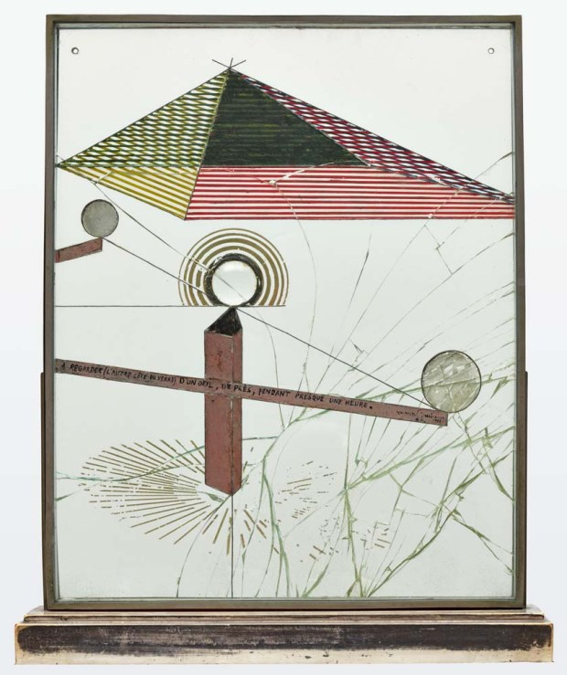 Marcel Duchamp, À regarder (l'autre côté du verre) d'un œil, de près, pendant presque une heure, Museum of Modern Art, New York, 1918