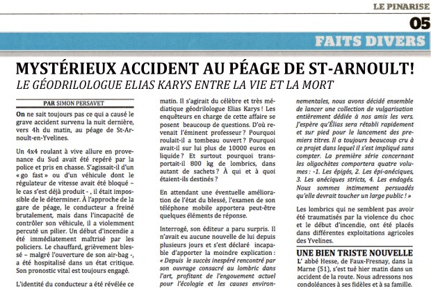 Mystérieux accident au péage de St-Arnoult