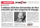 Gériatrides de Nice: soupçons de dopage