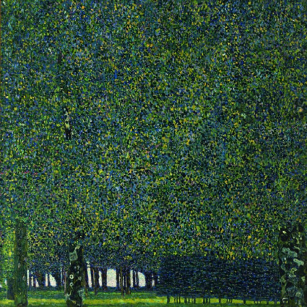 "Gustave Klimt, ""Le Parc"" (1910 ou avant), huile sur toile 110,4 x 110,4 cm, New York The Museum of Modern Art, Gertrud A. Mellon Fund, 1957"