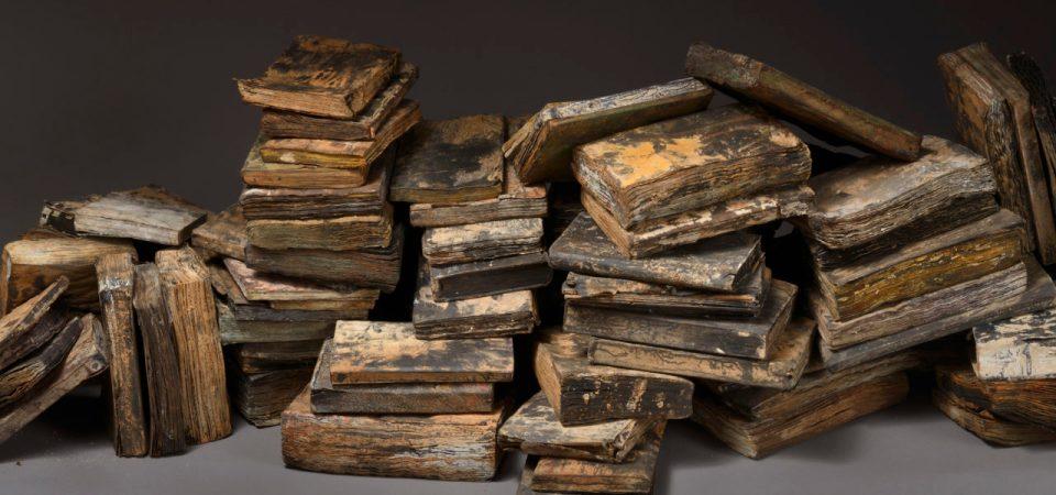 Livres, sculpture de Marc Pérez - Photo Jean-Louis Losi