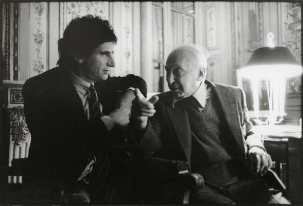 André Kertész et Jack Lang (1982)