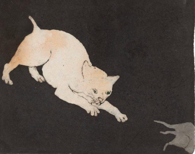 """""""Chat courant après une souris"""", (c. 1925)."""