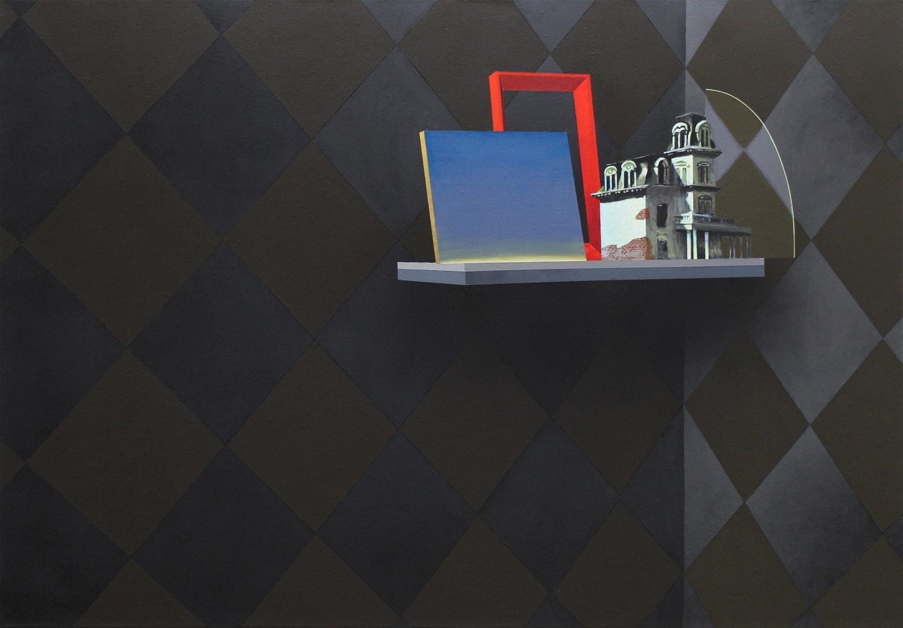 Sépànd Danesh, Crépuscule, 2015. Acrylique et spray sur toile, 140 x 200 cm, Courtesy de l'artiste, Backslash