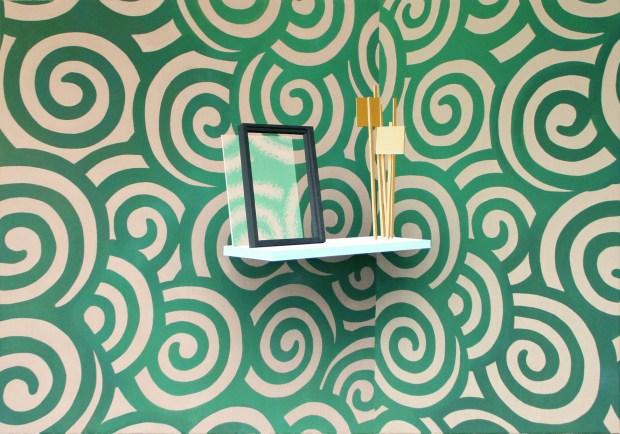 Sépànd Danesh, Soulèvement, 2015. Huile, spray et acrylique sur toile, 140 x 200 cm, Courtesy de l'artiste, Backslash